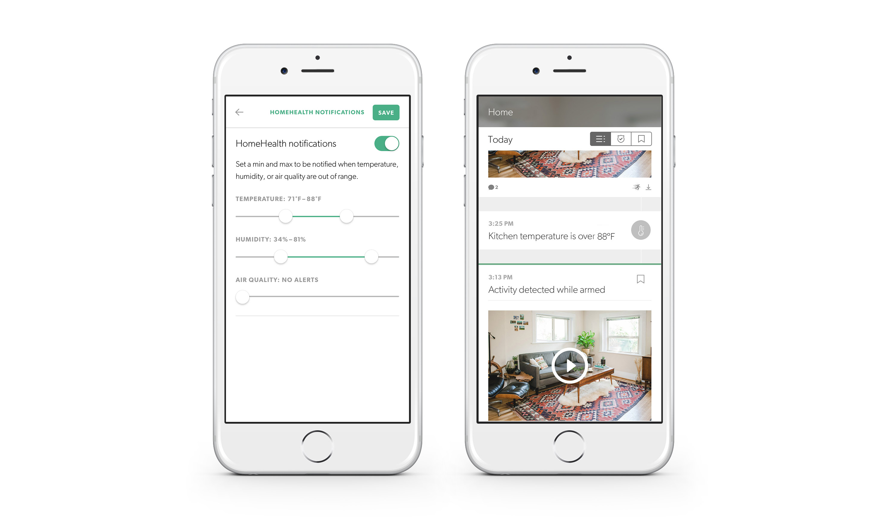 HomeHealth and Offline Notifications