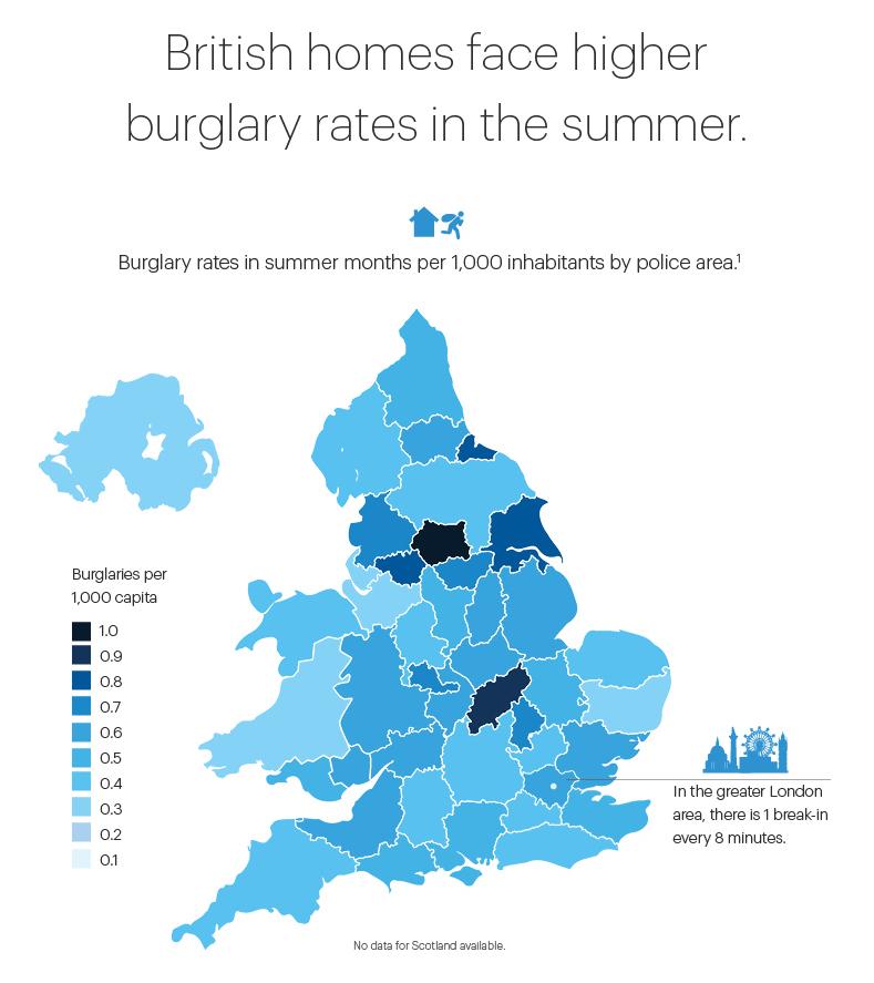UK burglary statistics infographic